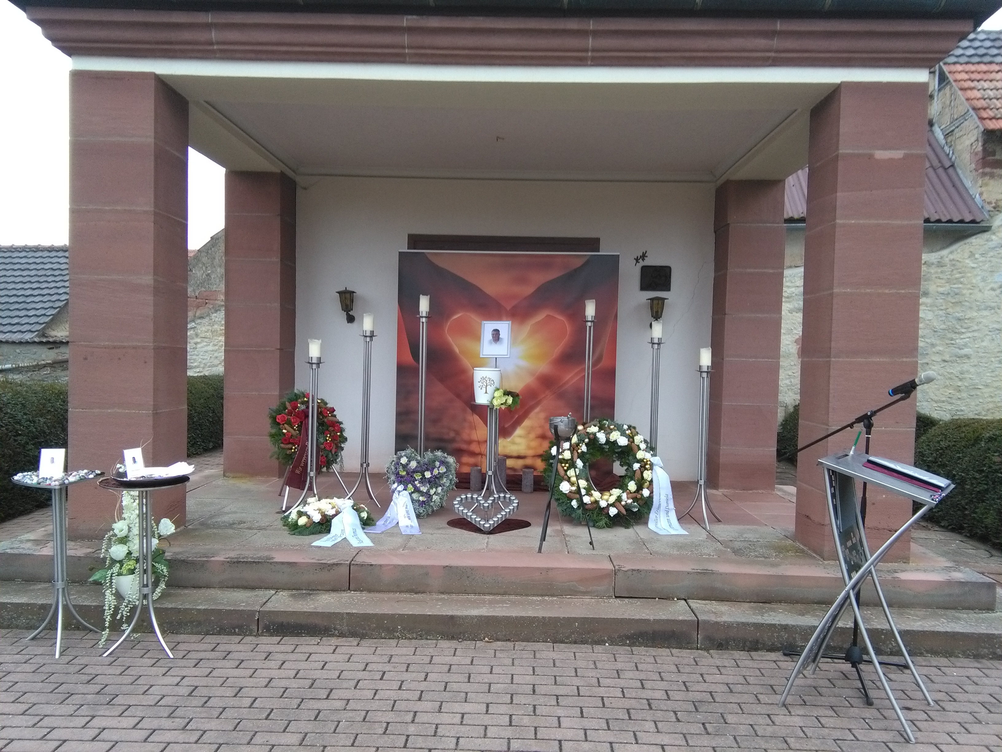 Friedhof Neubrunn Trauerfeier